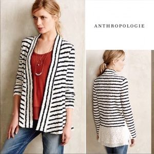 Anthropologie postage stamp cardigan sweater Sz S